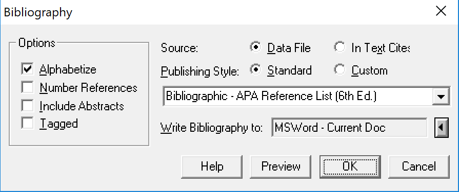 Write a Reference List in APA, MLA, or Turabian Style