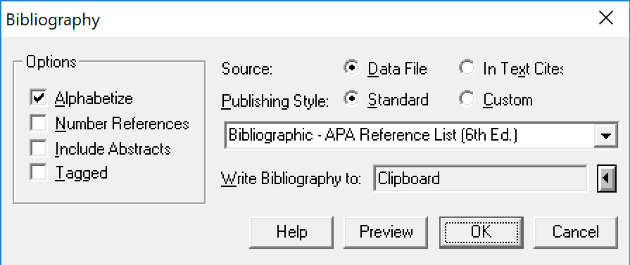 Bibliographies in Google Docs