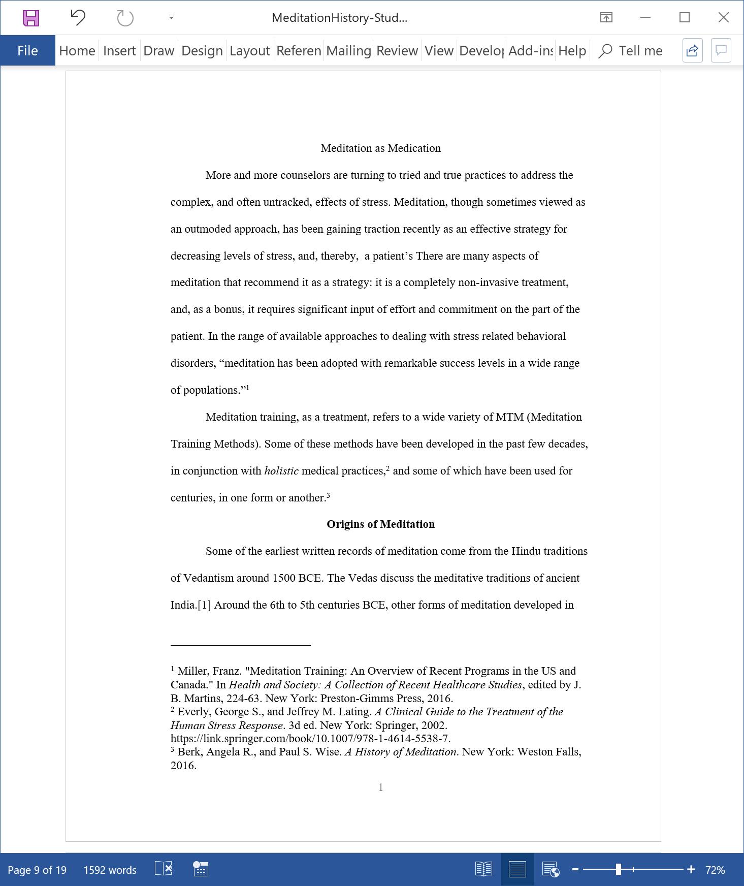 turabian research paper