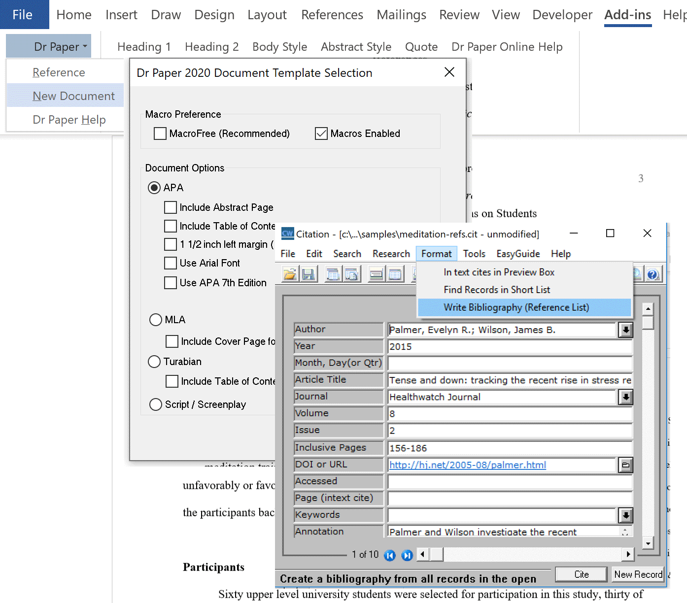 the write direction  smart software for research and writing