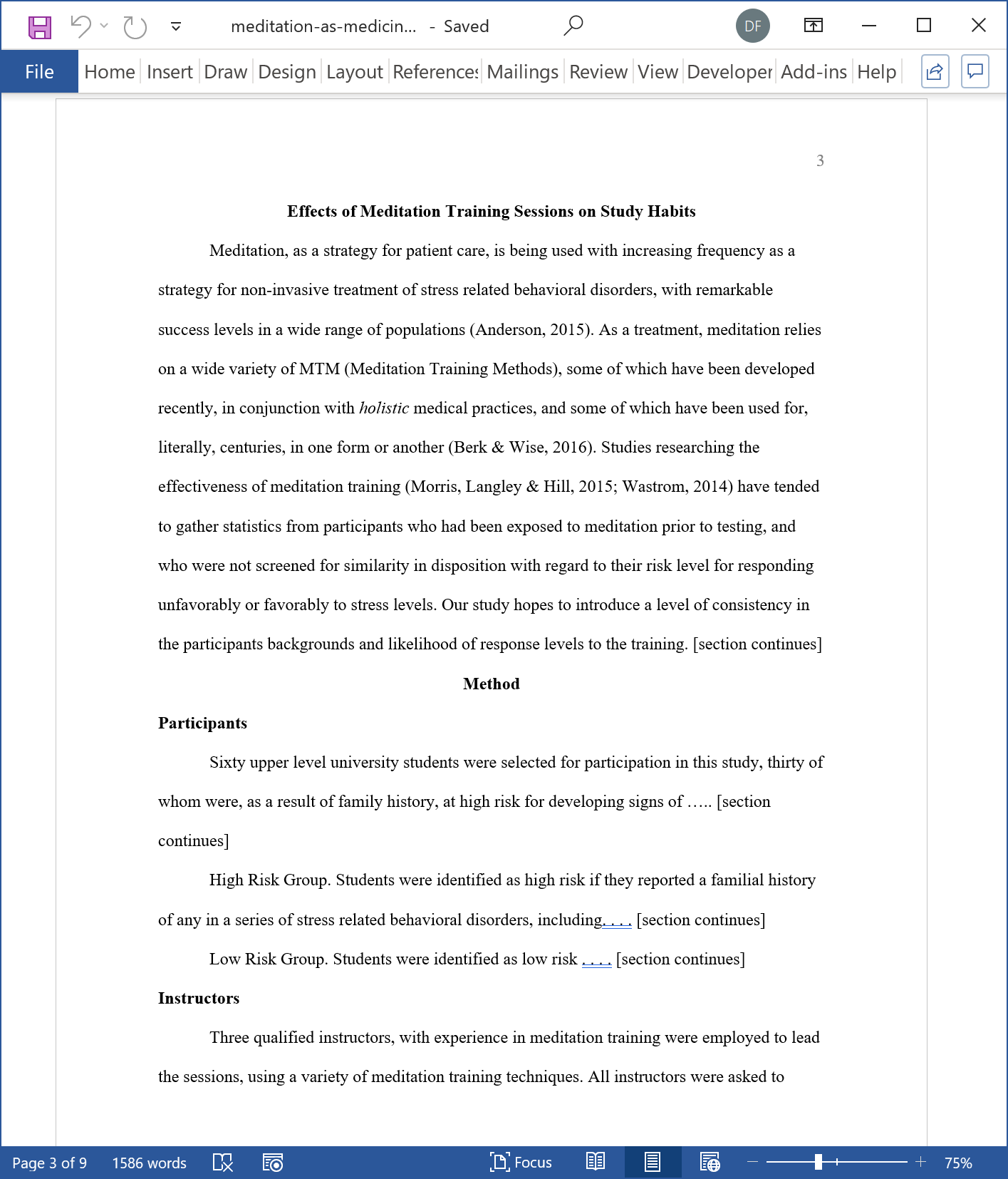 APA 7th Edition Style First Page of a Research Paper